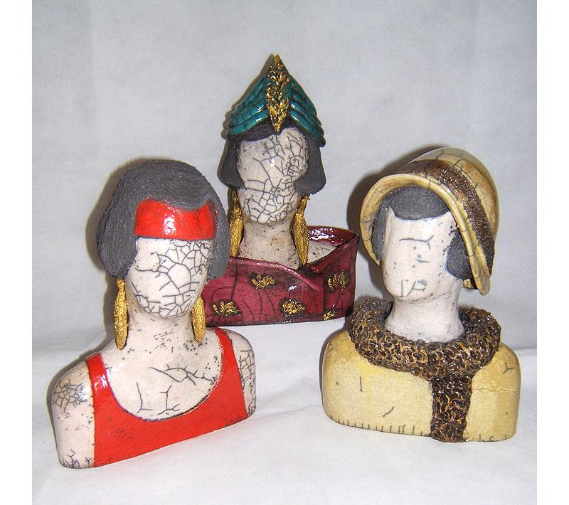 Bustes Femmes Art Déco