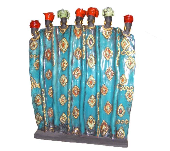 Grand drapée Africaines - 80 cm